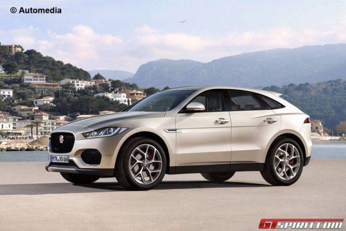 Jaguar E-Pace rendered