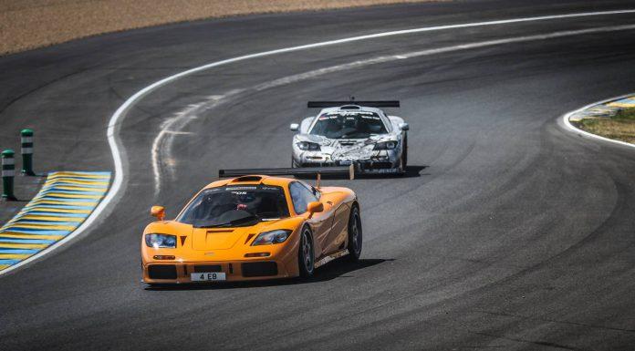 McLaren parade lap at Le Mans