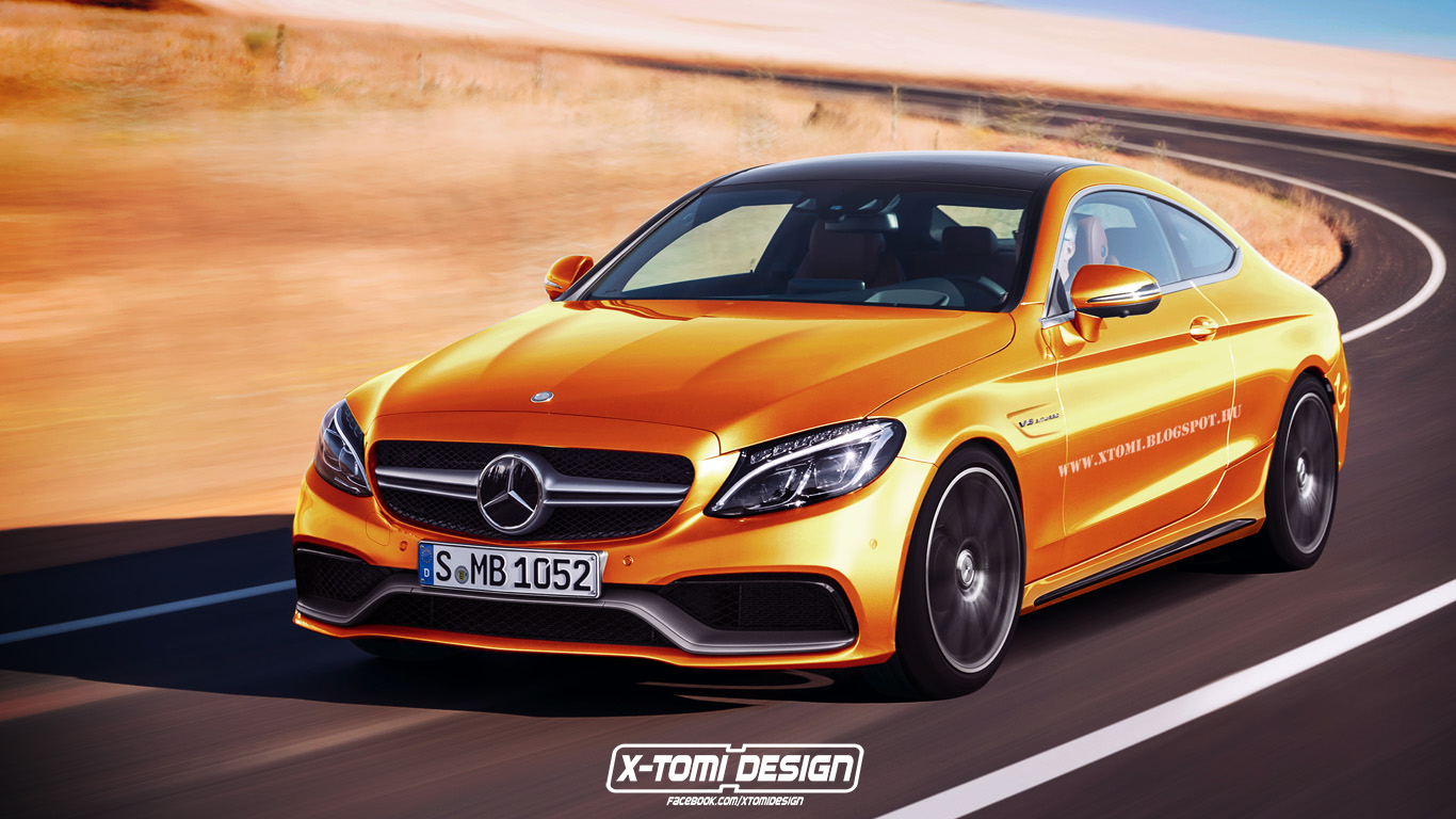 mercedes amg c63 coupe rendered before impending reveal. Black Bedroom Furniture Sets. Home Design Ideas