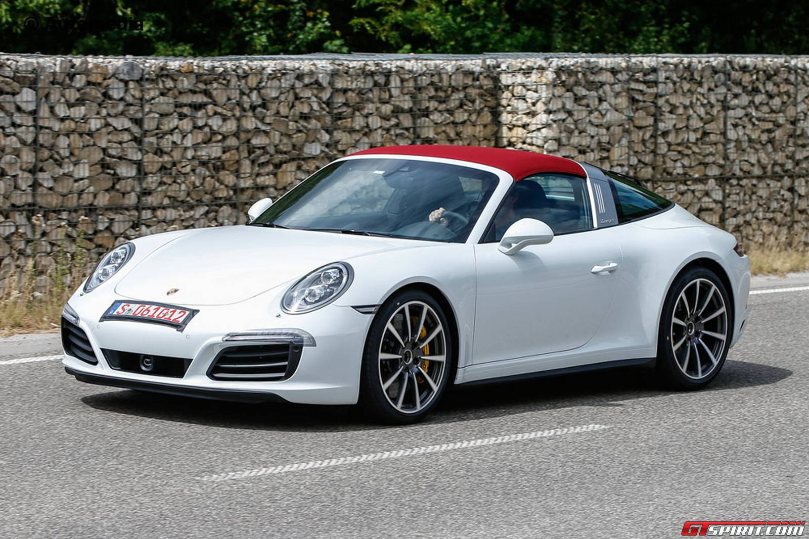 Fully Undisguised Porsche 911 Targa Facelift Spy Shots Gtspirit