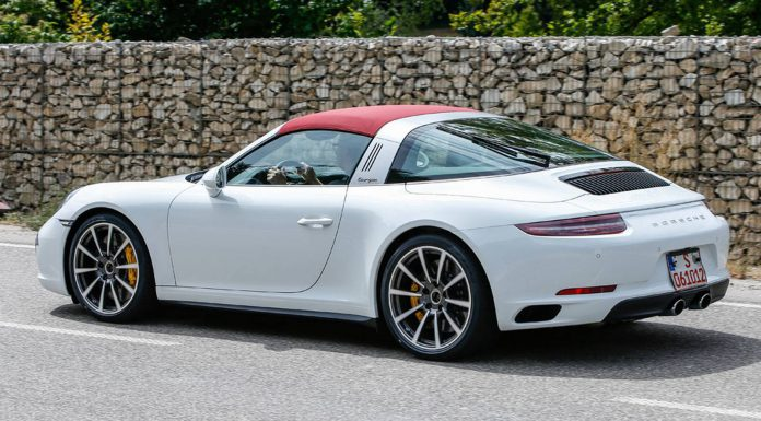 Fully Undisguised Porsche 911 Targa Spy Shots