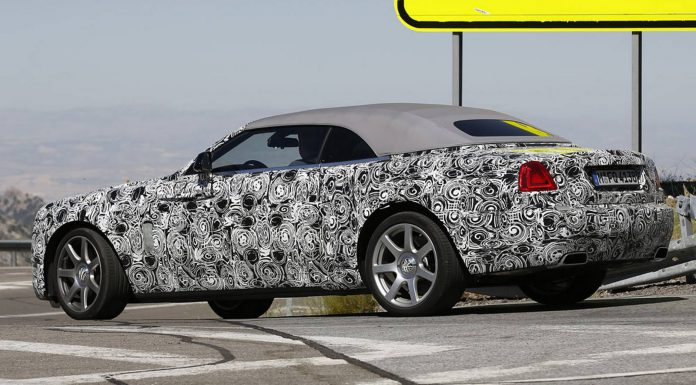 New Spy Shots of the Rolls-Royce Dawn Emerge