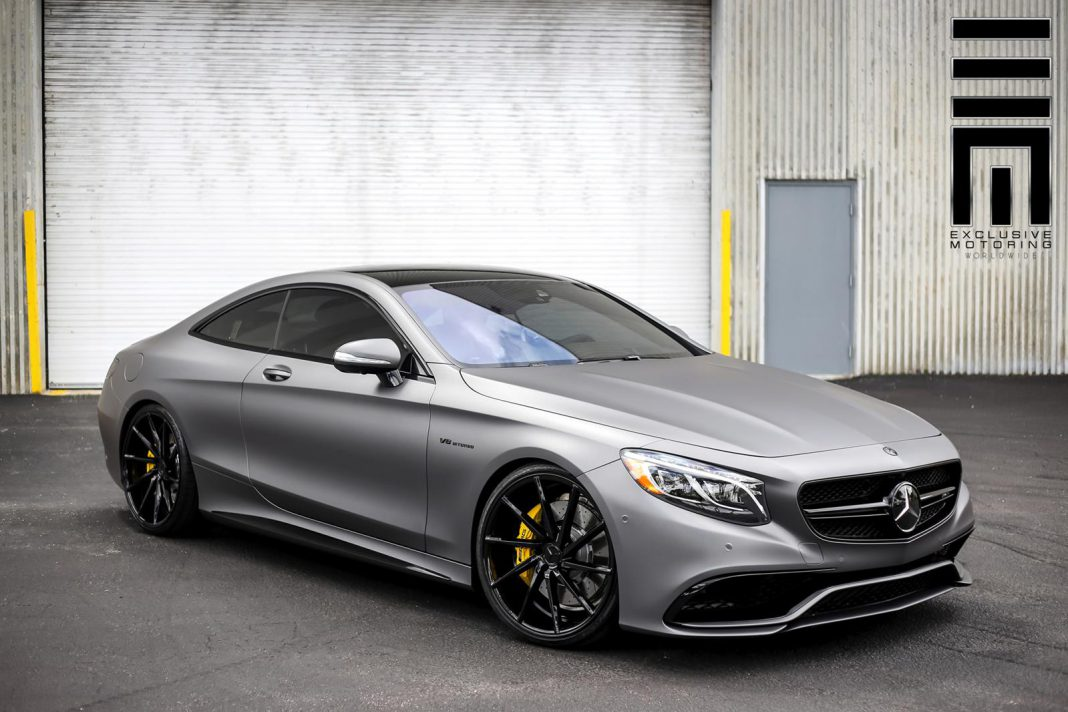 stealthy matte grey mercedes benz s63 amg coupe gtspirit. Black Bedroom Furniture Sets. Home Design Ideas