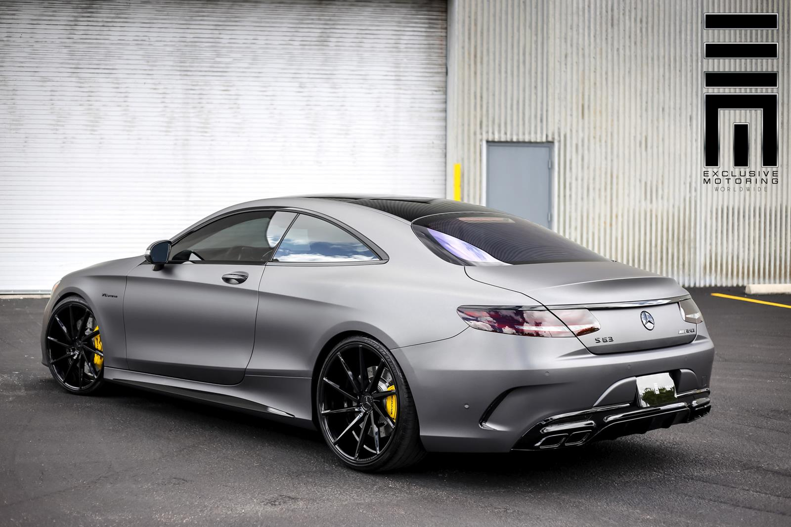 stealthy matte grey mercedes benz s63 amg coupe gtspirit