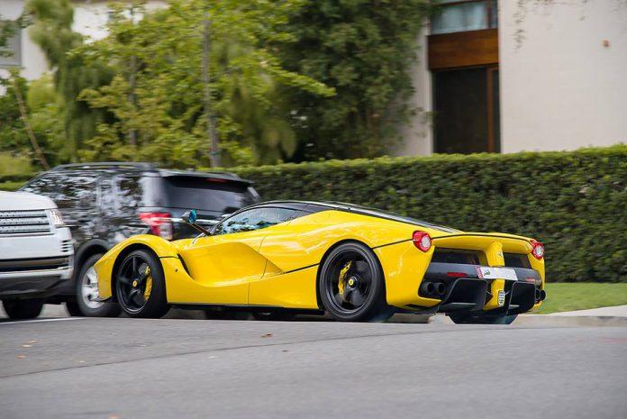 Yellow LaFerrari Beverly Hills