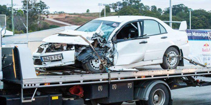 Mads Ostberg Evo after the crash