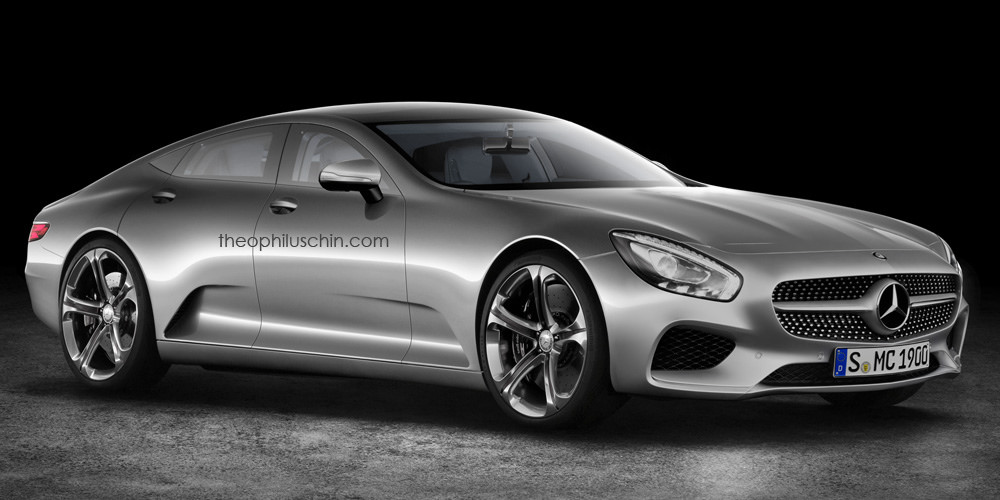 mercedes benz iaa concept rendered as model s rival gtspirit. Black Bedroom Furniture Sets. Home Design Ideas