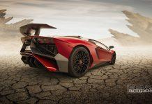 Red Lamborghini Aventador SV