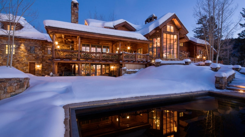 impressive 18 million log cabin for sale gtspirit