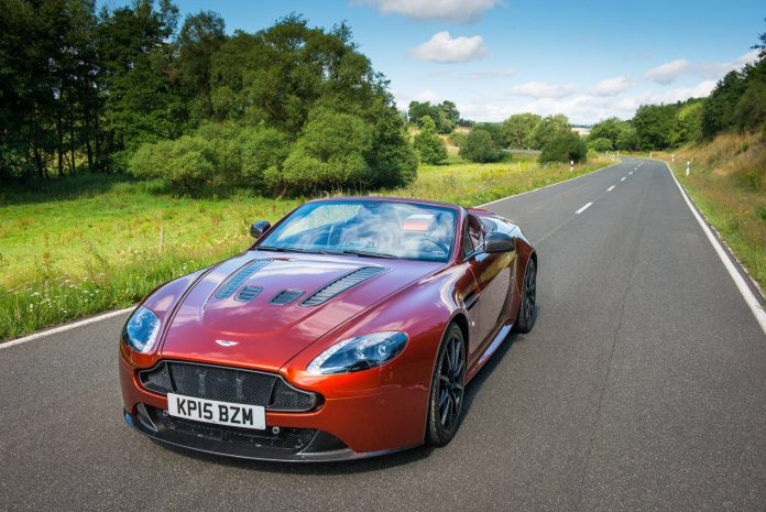 Aston Martin V12 Vantage S Roadster driving shot