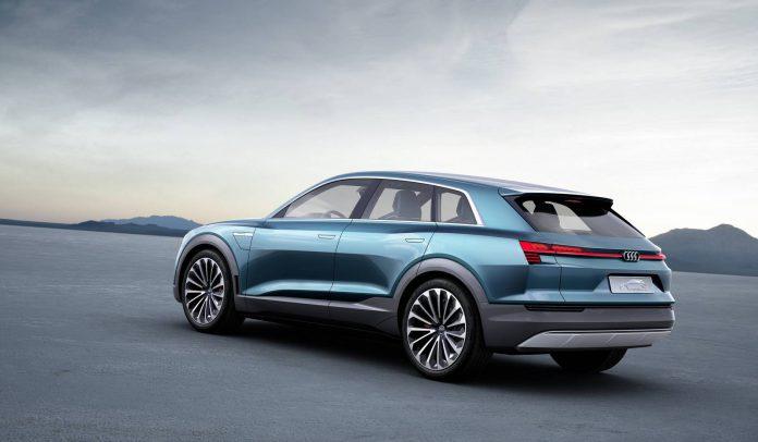 Electric green Audi e-tron quattro concept