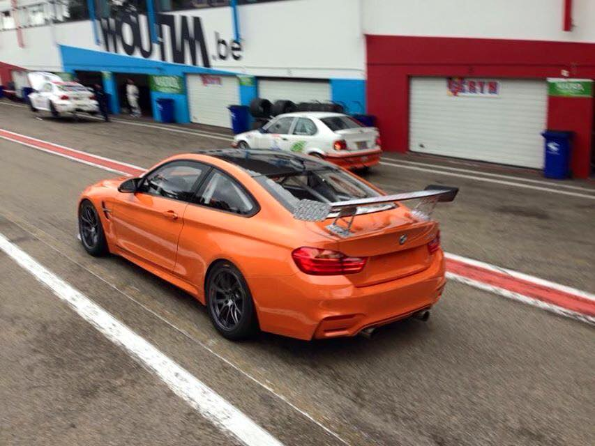 bmw m4 gt4 snapped testing at zolder circuit gtspirit. Black Bedroom Furniture Sets. Home Design Ideas
