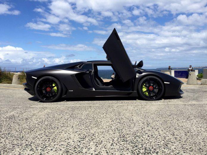 Black on Black Lamborghini Aventador