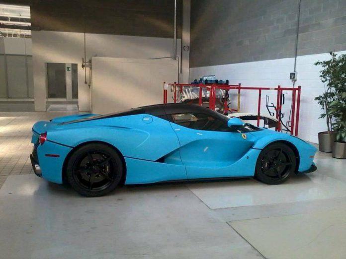 Blue Ferrari LaFerrari