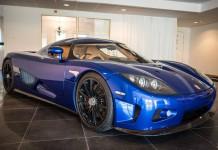 Blue Koenigsegg CCX