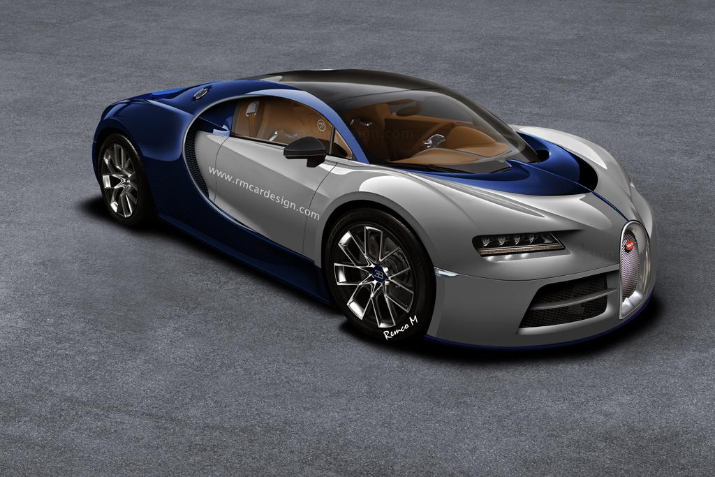 Bugatti Chiron rendered