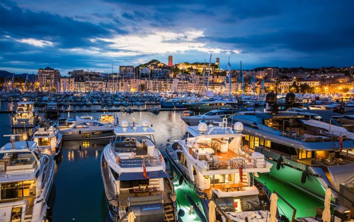Cannes Yachting festival 2015 night photo