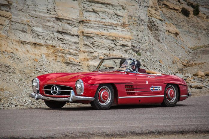 Red Mercedes-Benz 300 SL Roadster