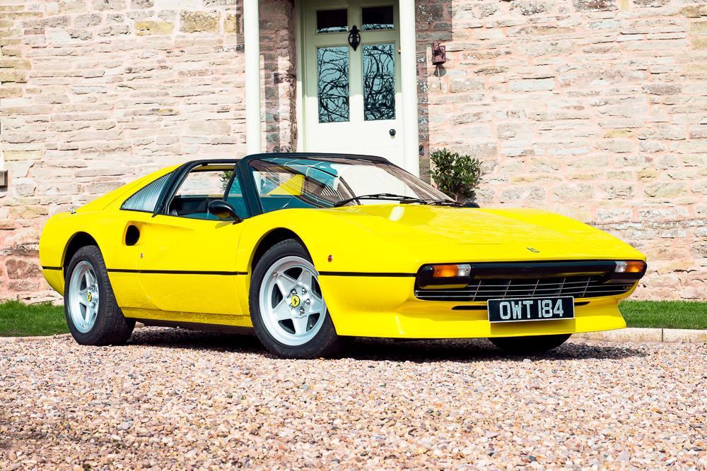 Yellow Ferrari 308 GTS