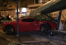 Ferrari 458 Crash
