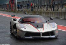 Silver Ferrari FXX K