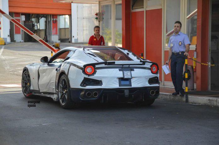 Ferrari F12 Versione Speciale spied rear