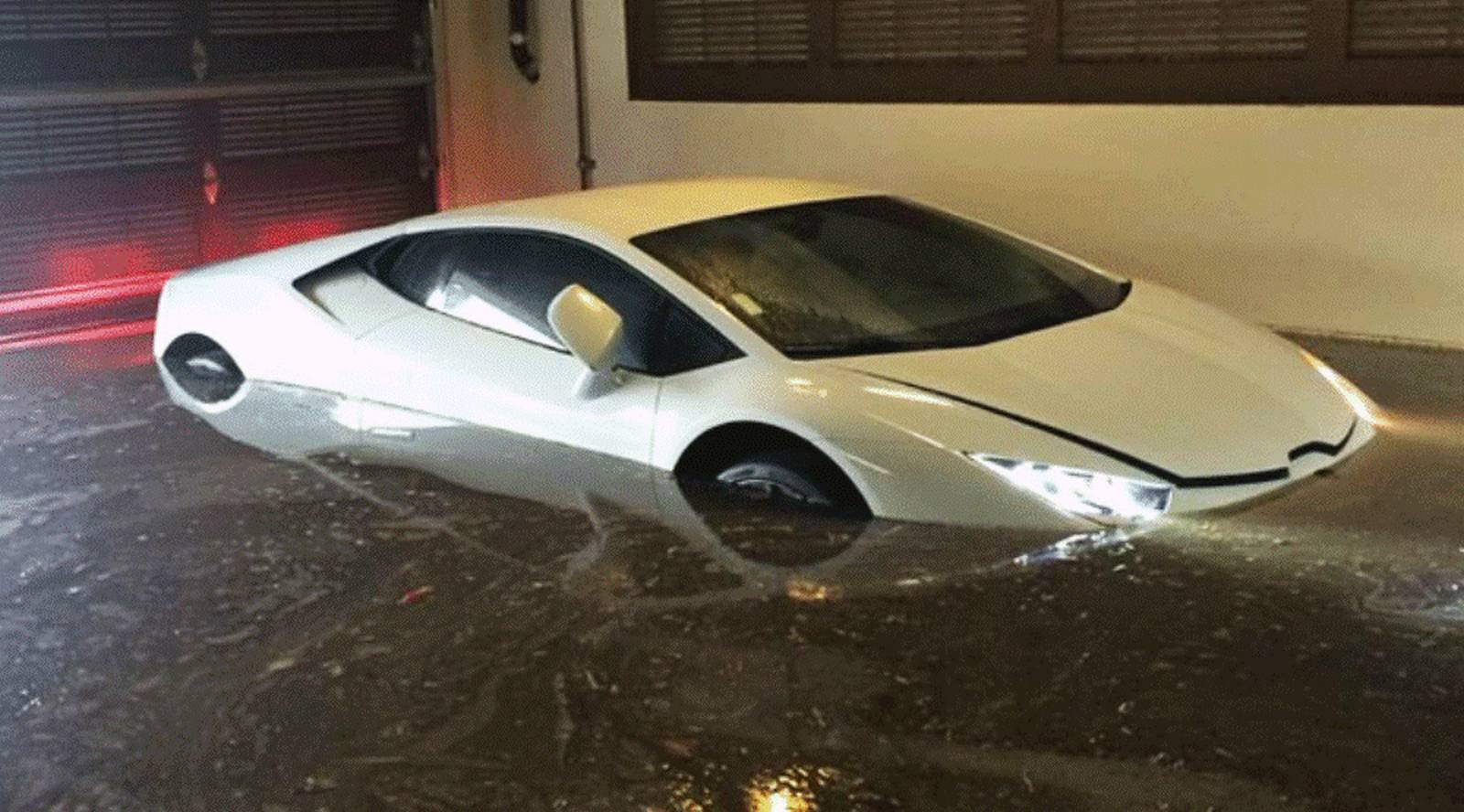 3 Day Old Lamborghini Huracan Destroyed By Floods In San
