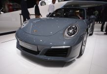 Porsche 911 facelift Frankfurt front