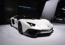 Lamborghini Aventador SV Roadster front