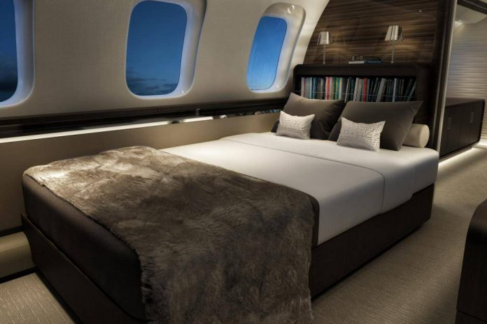 Bombadier Global 7000 interior bed