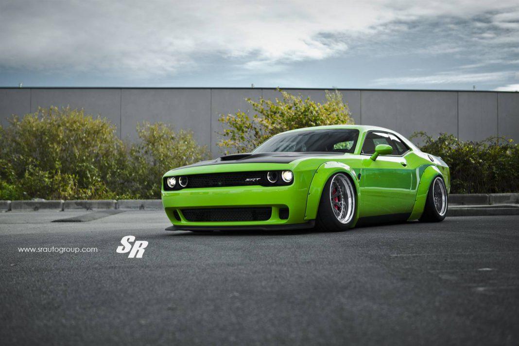 Green Dodge Challenger SRT Hellcat