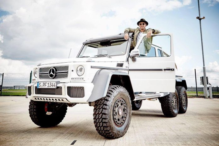 Lewis Hamilton Mercedes-Benz G63 AMG 6x6