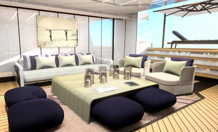 Heesen Yacht Superyacht Alida beach club view aft