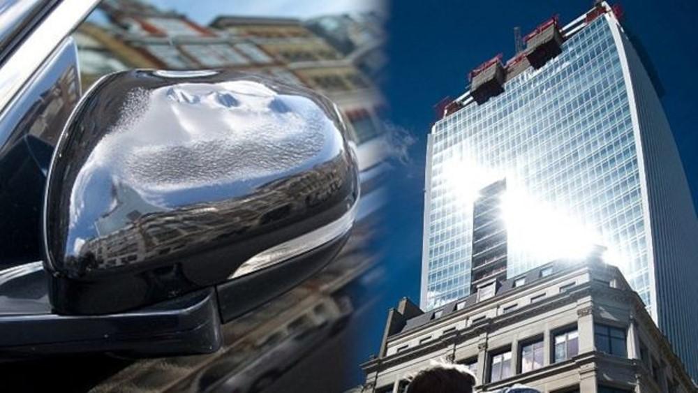 Jaguar Melting Skyscraper London