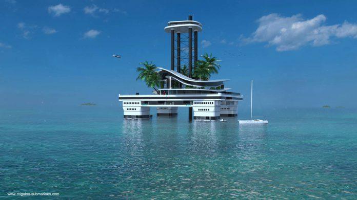 Private floating island - Kokomo Ailand