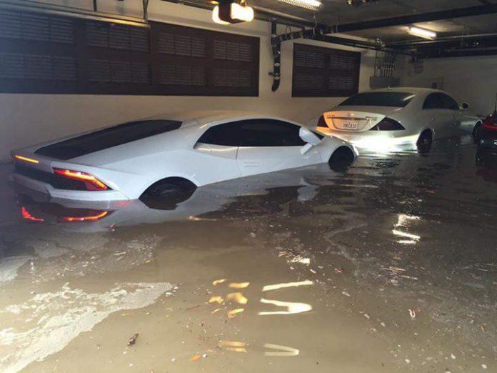 Lamborghini Huracan destroyed