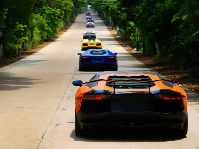 Lamborghini  convoy china