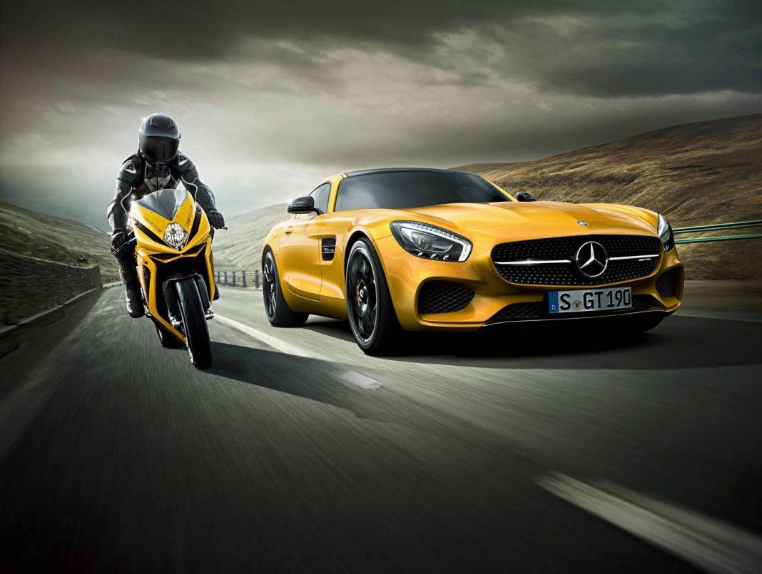 MV Agusta F3 800 and Mercedes-AMG GT