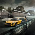 Mercedes-AMG GT Solarbeam Yellow and MV Agusta