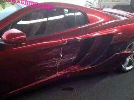 McLaren 12C crashes in China