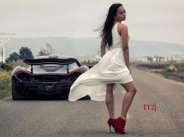McLaren P1 and Hot Girl