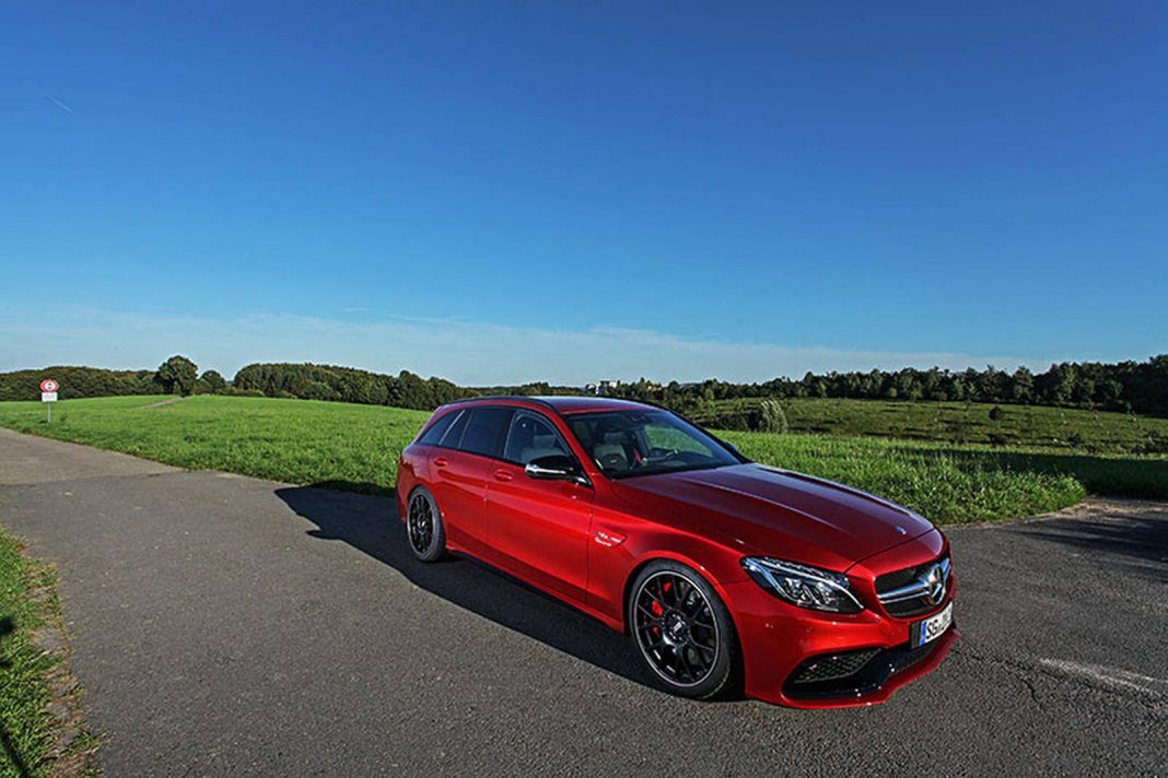 Red Mercedes-AMG C63 S Estate