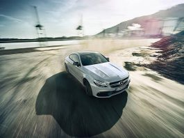 White Mercedes-AMG C63 S Coupe