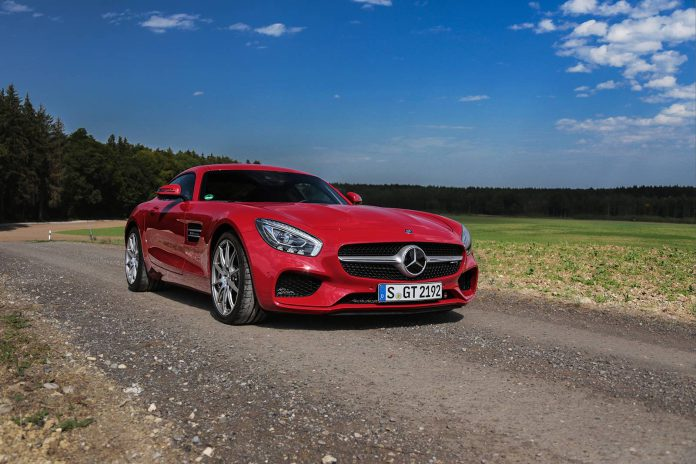 Red Mercedes-AMG GT
