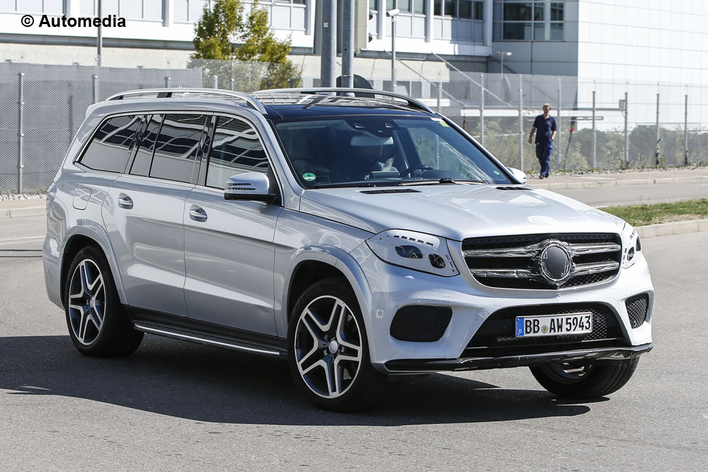 2016 mercedes benz gls almost naked in new spy shots gtspirit. Black Bedroom Furniture Sets. Home Design Ideas