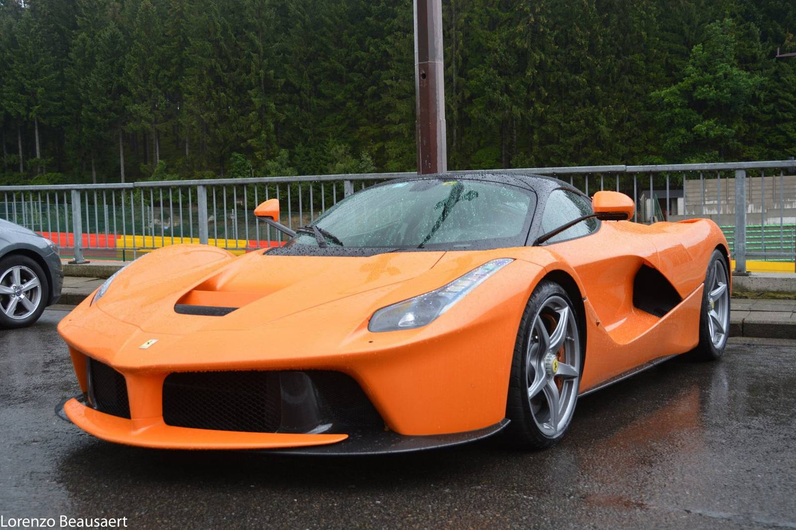 orange ferrari laferrari snapped at spa   gtspirit