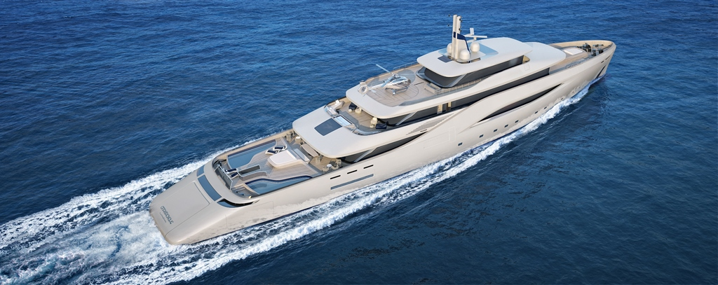 Fincantieri Pininfarina Otatantacinque mega yacht
