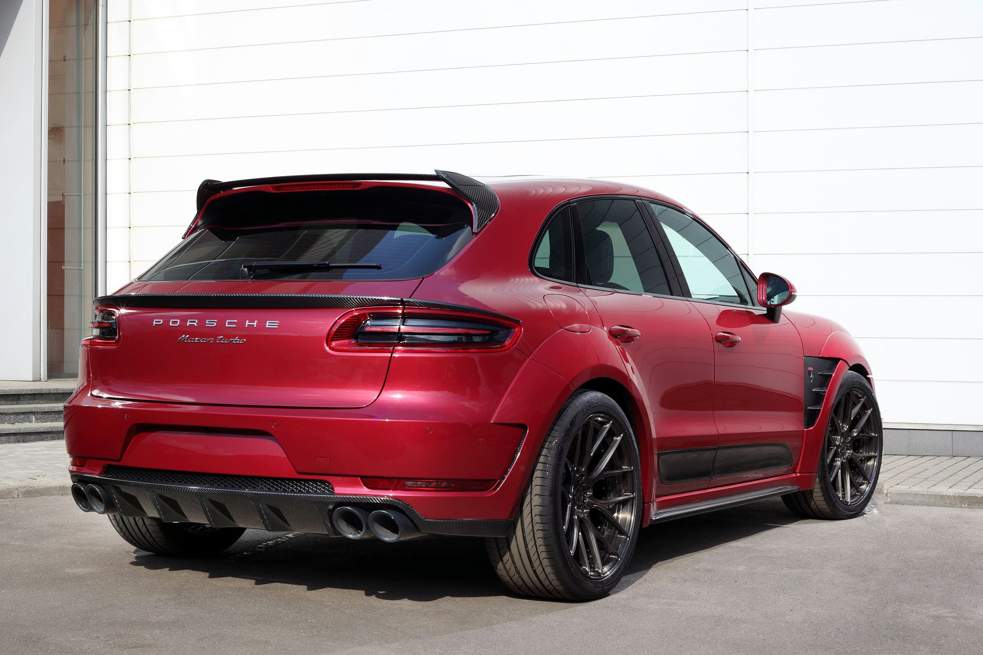 Red Widebody Porsche Macan By Topcar Gtspirit