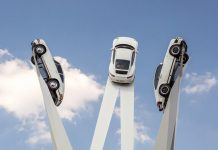 Porsche sculpture unveiled