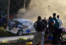 Rally crash in spain